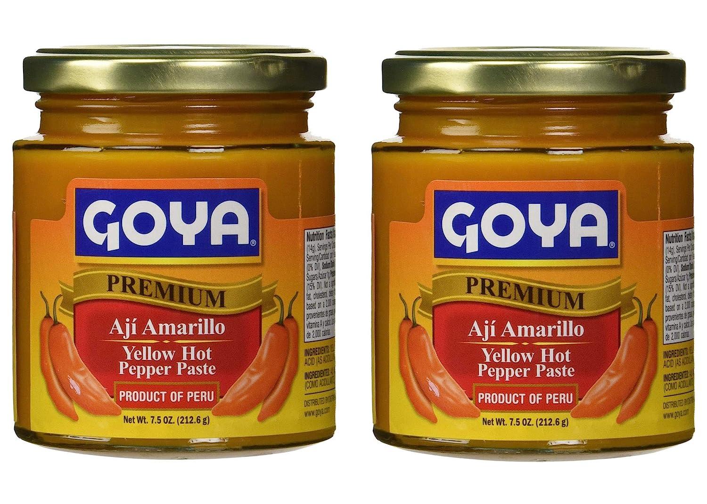 Goya Yellow Hot Pepper Paste 7.5 oz - Aji Amarillo (2 Pack)