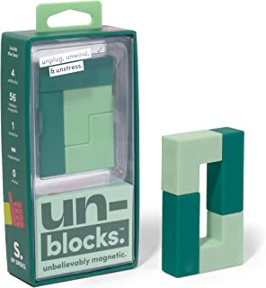 Speks Unblocks Green Set of 4 Unbelievably Magnetic Stress Relief Blocks for Kids and Adults