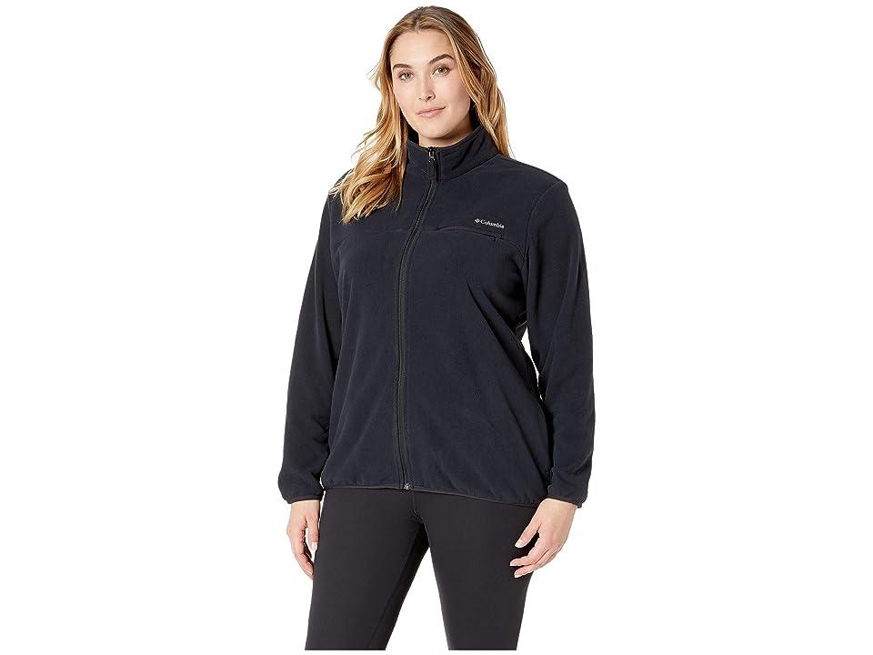 Columbia Plus Size Mountain Crest Full Zip (Black/Black) Women