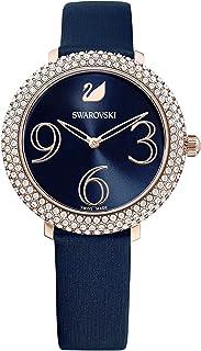 Swarovski Montre Crystal Frost, Bracelet en Cuir, PVD Doré Rose