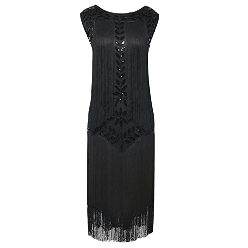e4f0f773993 PrettyGuide Women s 1920s Dress Vintage Beaded Fringed Inspired Flapper  Dress