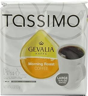 Gevalia Morning Roast Coffee (Medium Roast, 12-Ounce Servings), 14-Count T-Discs for Tassimo Coffeemakers (Pack of 2)