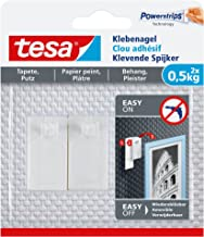 Tesa Adhesive Nail for Wallpaper & Plaster, 0.5 kg, wit