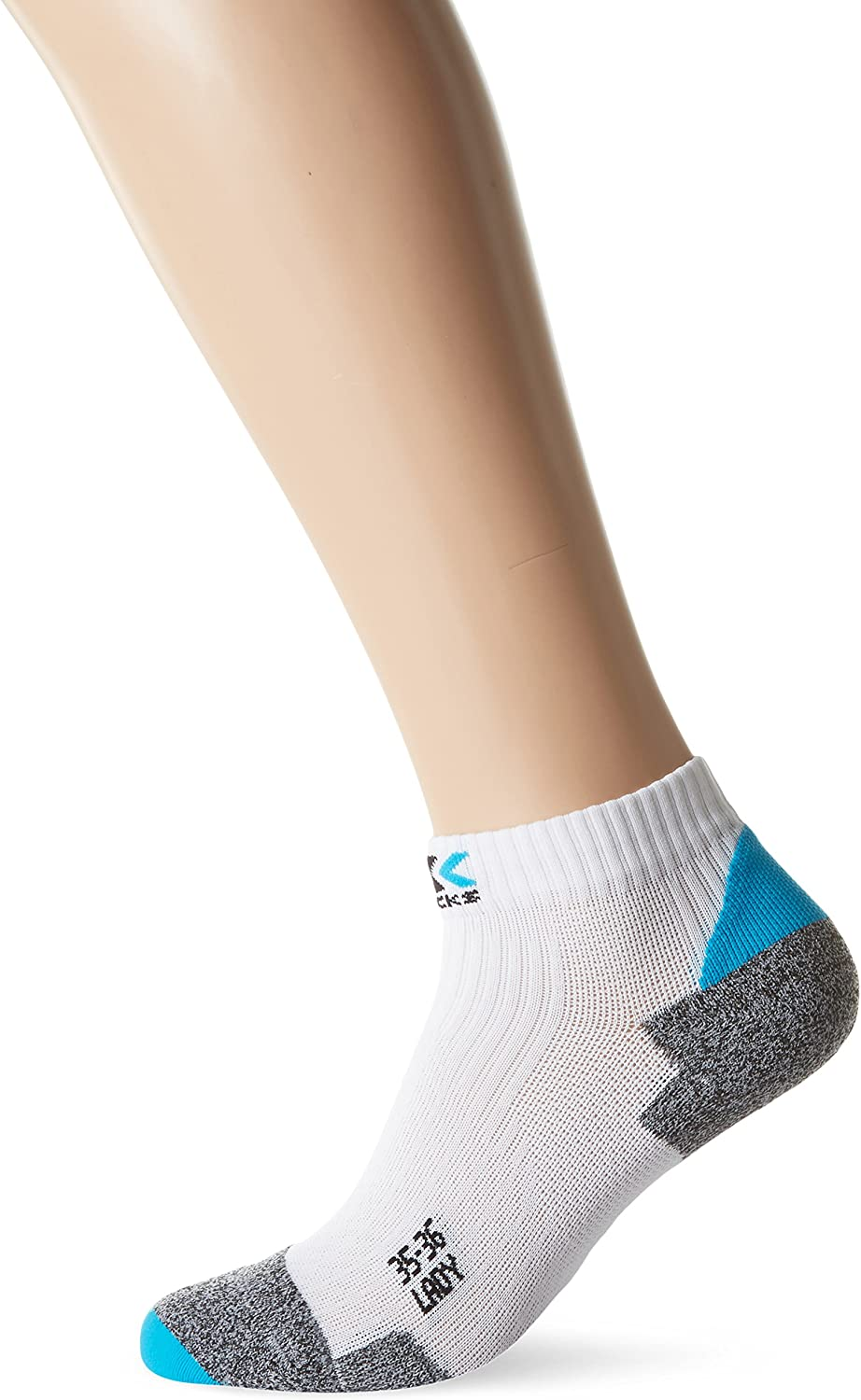 XSocks Run Discovery 2.1 Lady, Size 41 42, color White Turquoise Grey Mouline