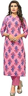 Vbuyz Women's Cotton Stitched Kurta With Palazzo Set