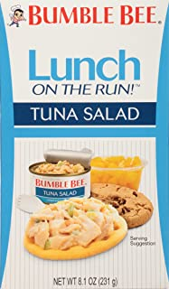 BUMBLE BEE Lunch on The Run Kit, Tuna Salad, Good Source of Protein, 8.1 Ounce (Pack of 4)