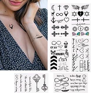 30 Blätter Temporäre Tattoos zum Aufkleben Auf Die Haut Wa