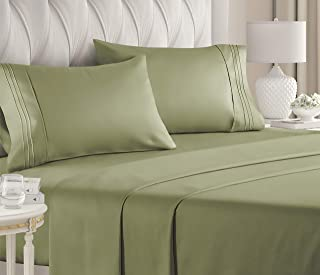 Queen Size Sheet Set - 4 Piece Set - Hotel Luxury Bed Sheets - Extra Soft - Deep Pockets - Easy Fit - Breathable & Cooling...
