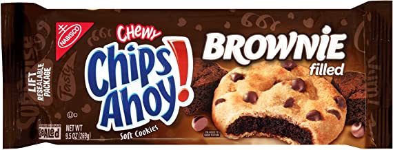 Nabisco Chips Ahoy! Chewy Chocolate Chip Cookies, Brownie, 9.5 oz