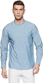 Arrow Jeans Men's Solid Slim Fit Cotton Casual Shirt