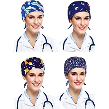CAPS SEA ANCHORS MEDICAL //PONYTAIL BOUFFANT   SCRUB SURGICAL