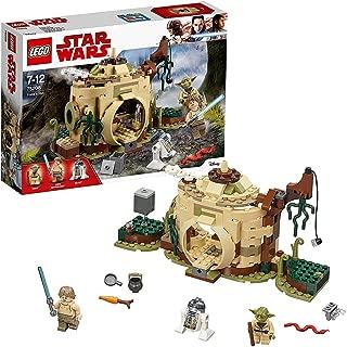 LEGO Star Wars Yoda'S Hut Building Set, Yoda & R2-D2 Droid Minifigures, Jedi Training Play Set