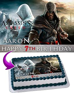 Assassin's Creed Edible Image Cake Topper Party Personalized 1/4 Sheet