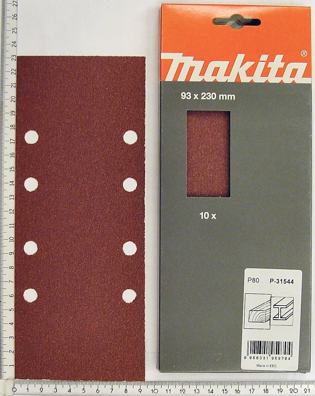Makita Schleifpapier 93 x 228 mm gelocht K180 Inhalt 10 Stk