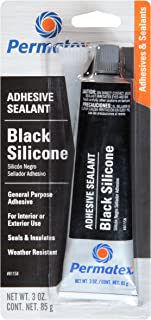 Permatex 81158 Black Silicone Adhesive Sealant, 3 oz. Tube