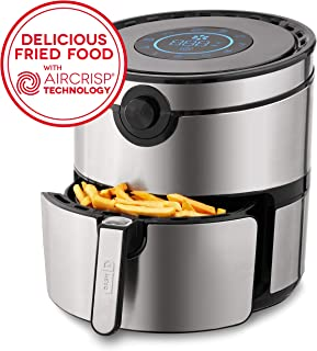 Dash DFAF600GBSS01 AirCrisp Pro Electric Air Fryer + Oven Cooker with Digital Display + 8..