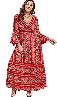 Best plus size maxi dresses boho Reviews