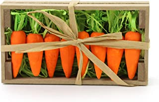 WEWILL Lifelike Thin Small Orange Foam Carrots Easter Oranment Rabbit's Gift Decoration Easter Party Home Decor (Pack of 8)