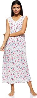 Women's Nighty Nightwear Gown Lingerie Poly Cotton Maxi Loose Dress Sleepwear Stretchable Comfort Short Sleeve Floral Prin...