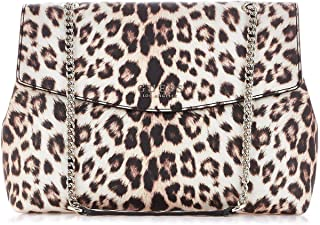 Luxury Fashion | Guess Womens HWEL7180200LEOPARD Beige Shoulder Bag | Fall Winter 19