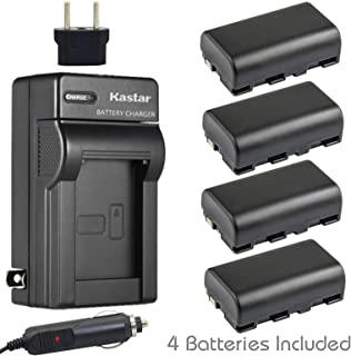 Kastar Battery 4-Pack and Charger for Sony NP-FS11 and CCD-CR1 CCD-CR5 DCR-PC1 DCR-PC2 DCR-PC3 DCR-PC4 DCR-PC5 DCR-TRV1VE Cyber-shot DSC-F505 DSC-F505V DSC-F55 DSC-F55V DSC-P1 DSC-P20 DSC-P30 DSC-P50