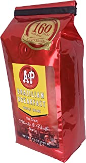 AP BRAZILIAN340 Coffee Whole Beans, 12-Ounce, Brazilian Breakfast