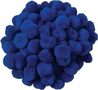 Creativity Street Pom Pons 100-Piece x 1 Inch, Royal Blue