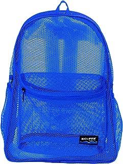 Mesh Backpack Heavy Duty Student Bookbag Quality Simple Classic School Book Bag (Royal Blue)