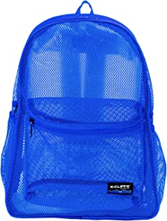 Mesh Backpack Heavy Duty Student Bookbag Quality Simple Classic School Book Bag (Royal Blue)