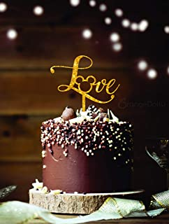 Mickey Love Cake Topper - Glitter Gold Acrylic Monogram Disney wedding -Disney cake toppers Cake Topper- Mickey Head