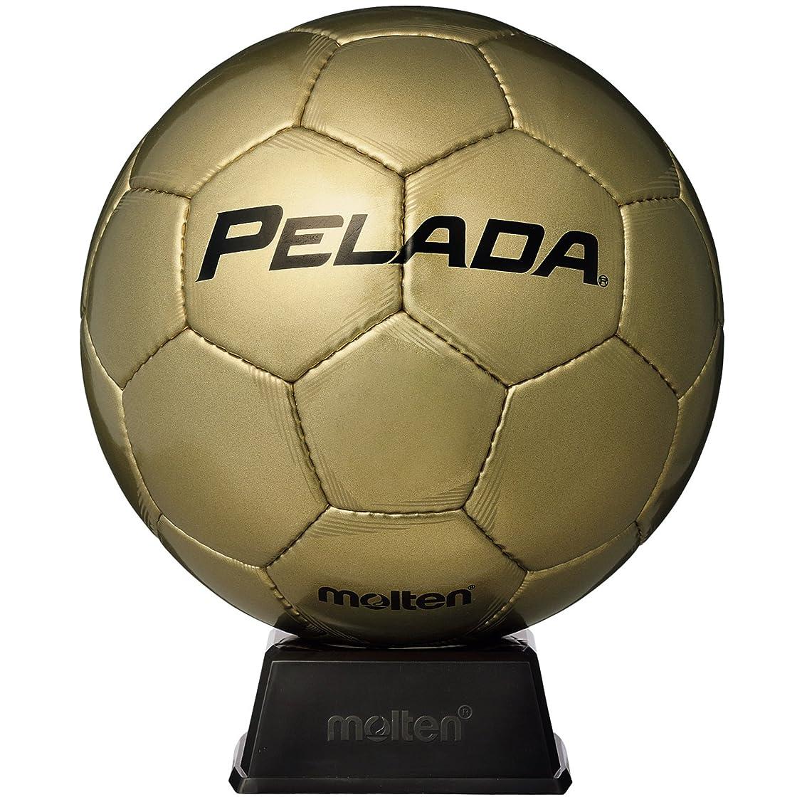 豆受益者崇拝するmolten(モルテン) サッカーボール ペレーダ記念ボール 5号 (置台付き)F5P9500