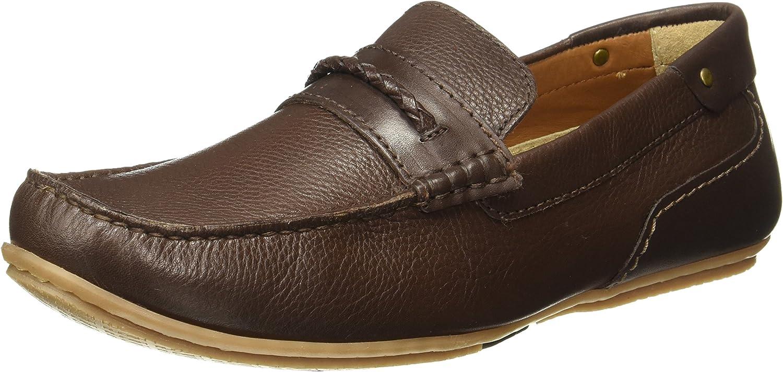 Ruosh Men's Brown Moccasins - 9 UK India (43 EU)(Ro_8903953106114)