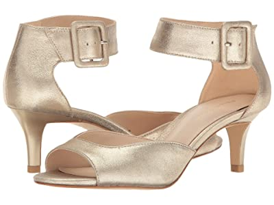 Pelle Moda Berlin (Platinum Gold Metallic Suede) High Heels