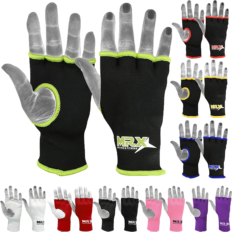 MRX Muay Thai Philadelphia Mall Boxing Inner Gloves Black Gr Los Angeles Mall Wrap Hand Protective