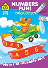School Zone - Numbers Fun! Write & Reuse Workbook - Ages 5 to 6, Preschool to Kindergarten, Writing, Tracing, Counting, Early Math, Wipe Clean (School Zone Write and Reuse Book Series)