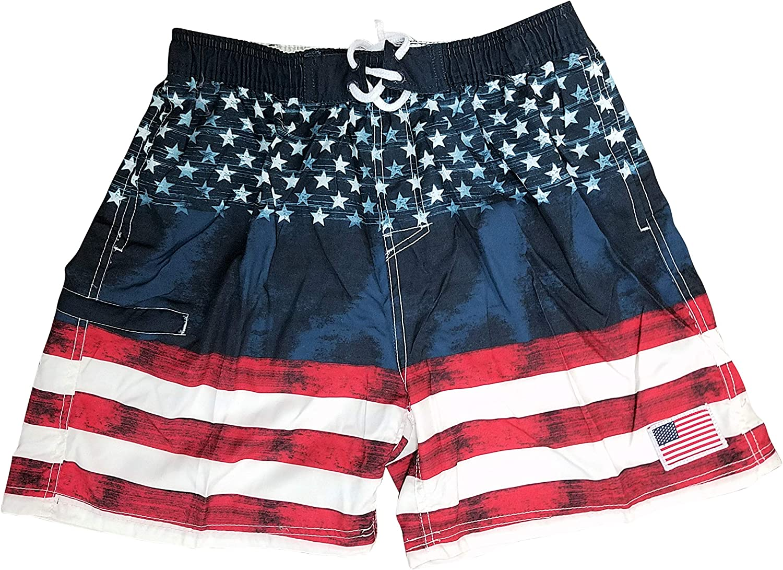 Tennessee Tri Star Flag Mens Quick Dry Swim Trunks Fashion Beach Board Shorts with Mesh Lining