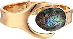 Robert Lee Morris - Abalone and Gold Bypass Hinge Bangle
