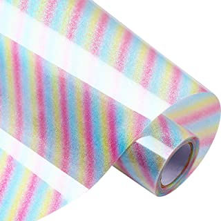 Glitter Heat Transfer Vinyl 12 Inch by 5 Feet HTV Roll for T-Shirts, Clothing, Hats, Iron on HTV Compatible with Cricut, C...