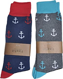 Mens Novelty Print Socks | 2 Pair Set | Trouser Socks | Casual | Crew