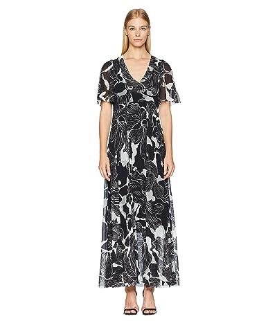 FUZZI Flower Deco Gown (Nero) Women