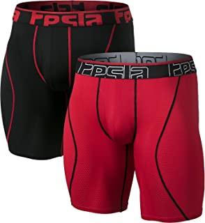 """Tesla Men's Relaxed Stretch 3""""/9"""" Open-Fly Cool Dry Brief Mesh Underwear Trunk (2-Pack) MBU"""