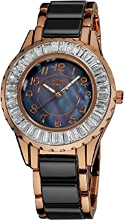 Burgi Women's Blue Dial Stainless Steel Band Watch - Bur066Bkr, Multicolour Band, Analog Display