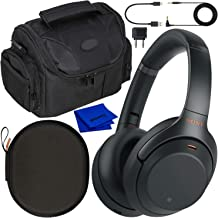 Sony Noise Cancelling Wireless Over-Ear Headphones WH-1000XM3 WH1000XM3 with Essential Must-Have Accessory Bundle (Black)