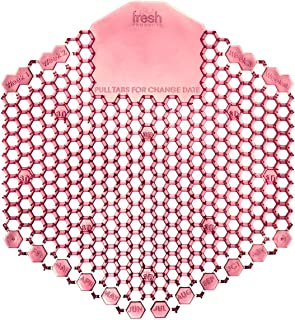 Fresh The Wave 3D Toilet Restroom 30-Day Urinal Screen Deodorizer Air Freshener / Fragrance - Kiwi Grapefruit - Red (Pack of 10)
