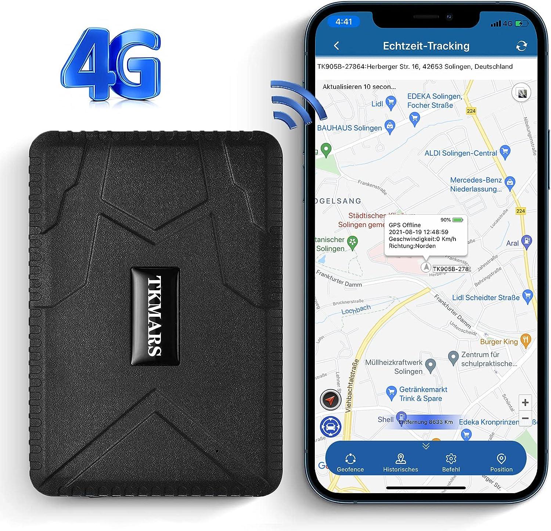 KUCE 4G Localizador GPS para Coche ,Real-Time Free Tracking Rastreador GPS Coche Consultar Trayectoria Histórica por Período de Tiempo GPS Coche Monitoreo de Voz GPS Tracker