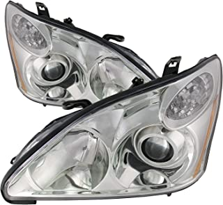 HEADLIGHTSDEPOT Compatible with Lexus RX330 (Japan Built) New HID-Type Headlights Set Headlamps Pair