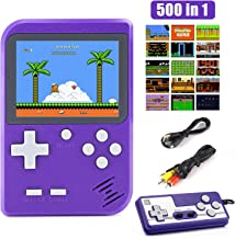 Diswoe 500 in 1 Handheld Game Console, Retro Mini Game Machine, Support Play on TV and Two players, 800mAh Rechargeable Ba...