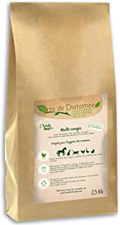l'herbe Haute ® Terre de Diatomée Blanche Alimentaire - 2,5 kg Kraft - Utilisable en Agriculture Biologique - Origine Natu...