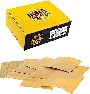"""Dura-Gold - Premium - Variety Pack (80,120,150,220,240,320,400,600,800,1000) - 1/4 Sheet Hook & Loop Sandpaper 5.5"""" x 4.5""""..."""