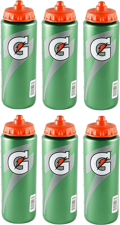 Set Max 74% OFF of 6 Gatorade Leakproof Green Max 53% OFF Bot Squeeze Water Orange Sport